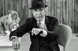 Leonard Cohen with Cat